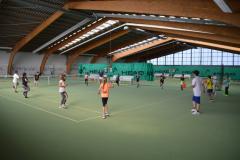 Tennis in der Tennishalle